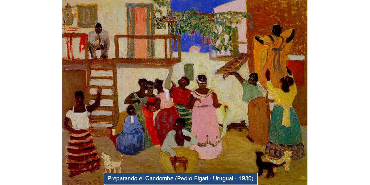 Preparando el Candombe (Pedro Figari - Uruguai - 1935).png